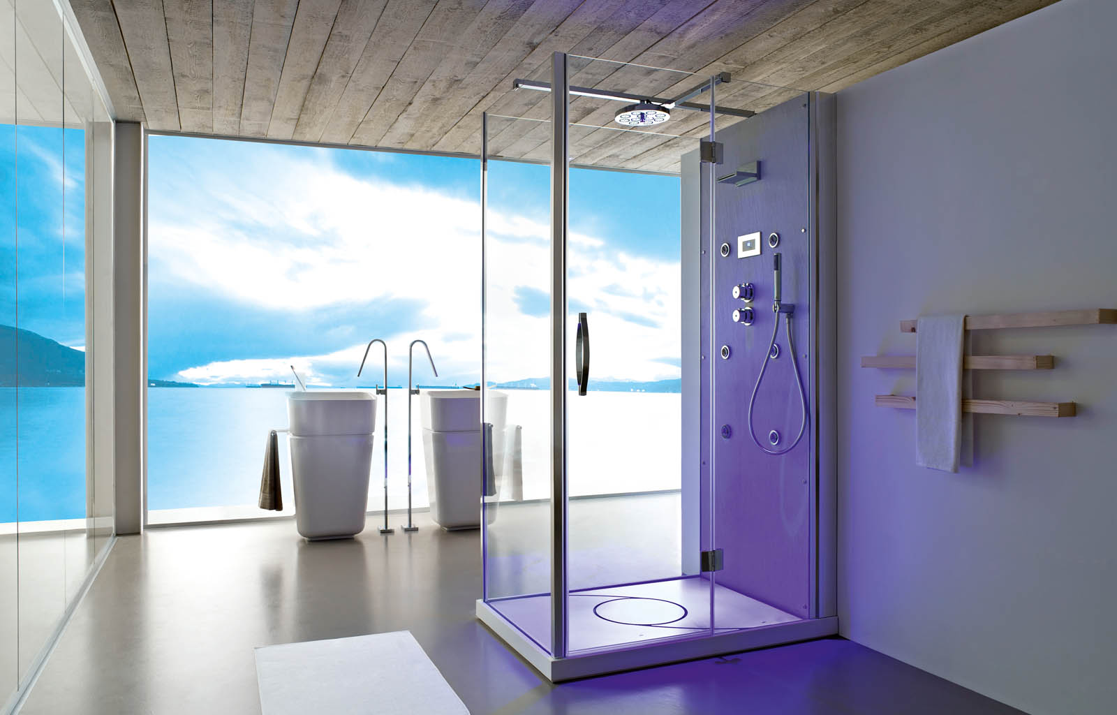 Trendy Walk In Shower System Bathroom Design Malta
